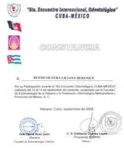 Doctora ponente en Cuba representando México en el 5to Encuentro Internacional de Odontología