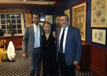 Cena de clausura con compañeros de Dubái en Harvard